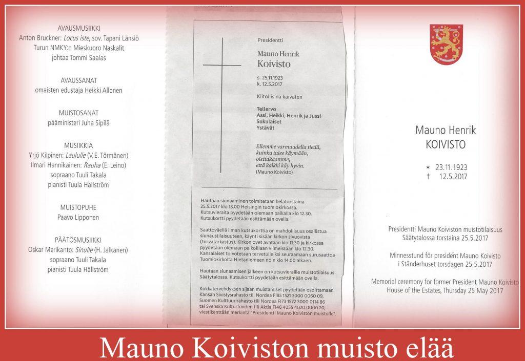 MaunoKopivistomuistotilaisuus20170525