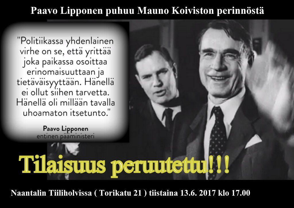 PaavoLipponenKoivistonperintC3B6peruutus2017061320170531