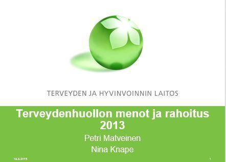 TerveydenhoidonmenotTHLv2013