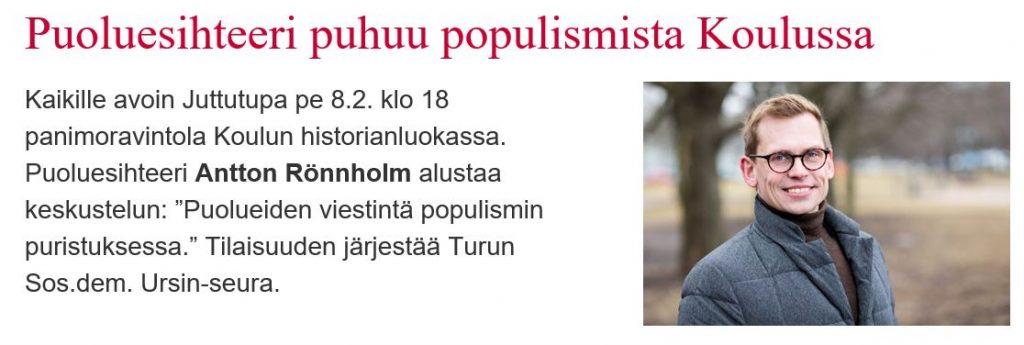 Antton Rönnholm Koulussa populsimista 20190208