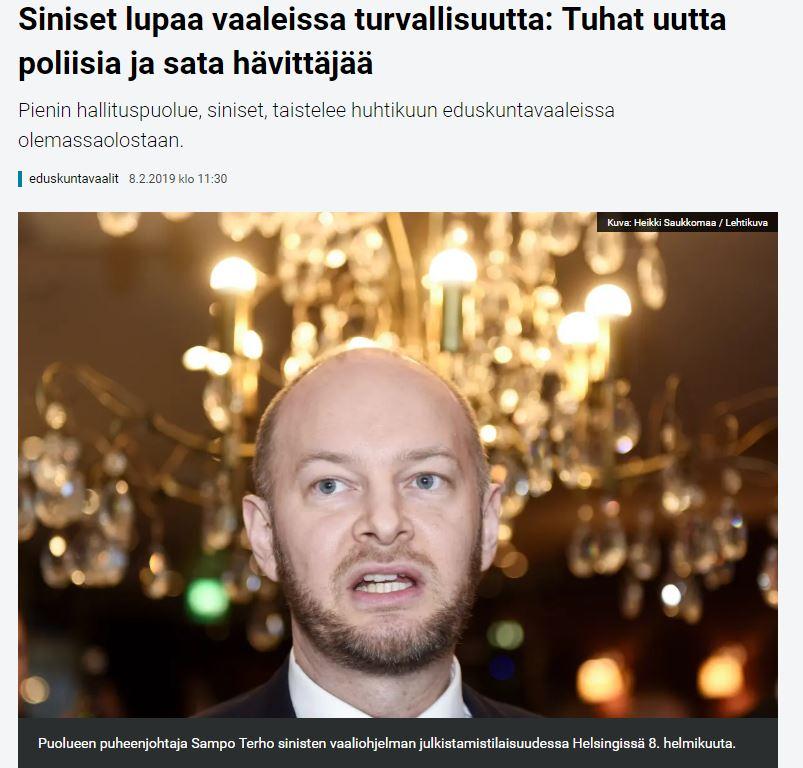 Sinisten vaalilupaus 20190208JPG