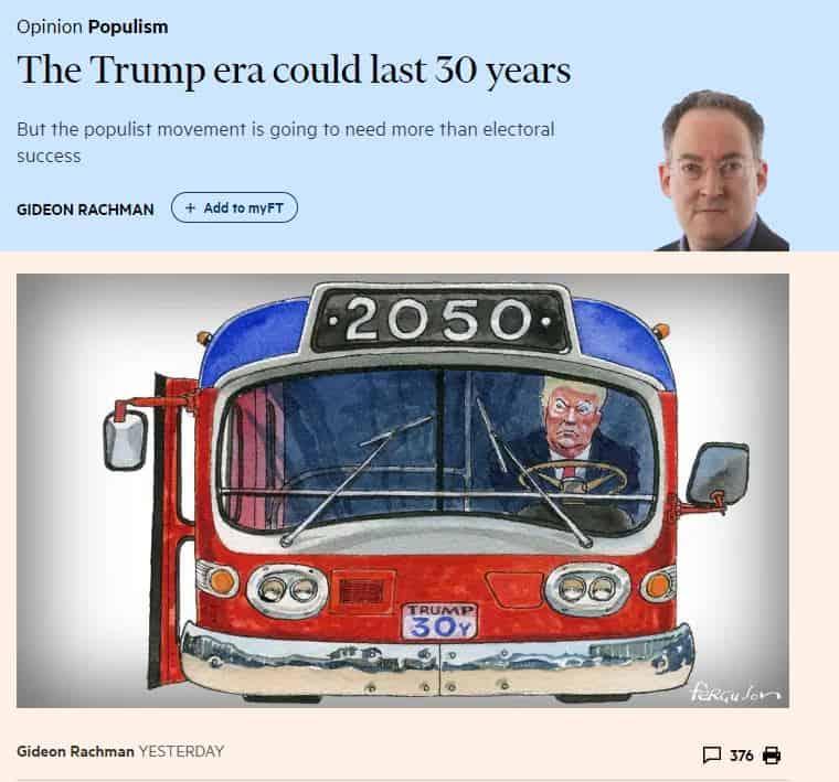 Trumpin aikaa 30 vuotta Rachman 20190204