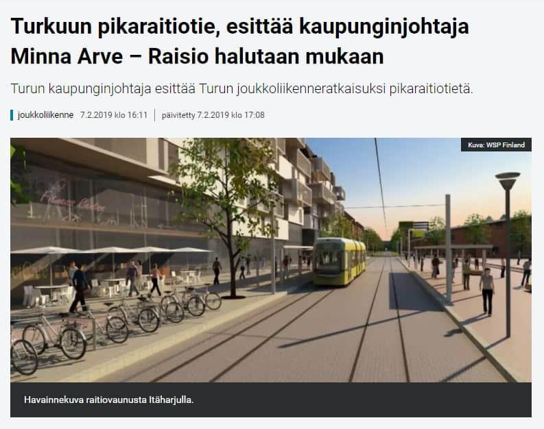 Turn raitiotie Yle 20190207