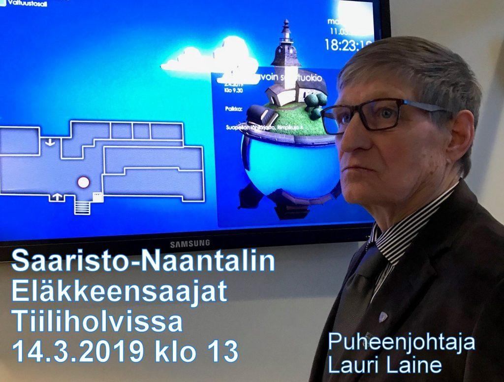 Lauri Laine ja eläkkeensaajat 20190311