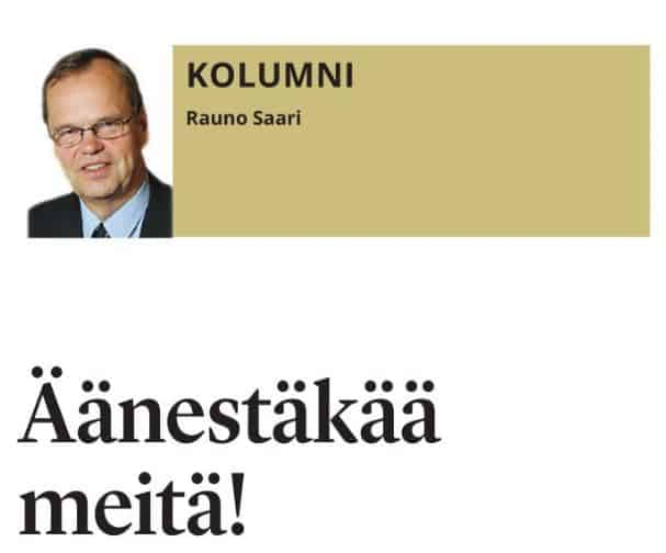 Rauno Saari kolumni SSS 20190330