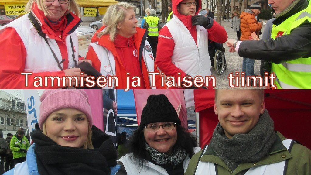 Tammisen ja Tiaisen tiimit 20190303