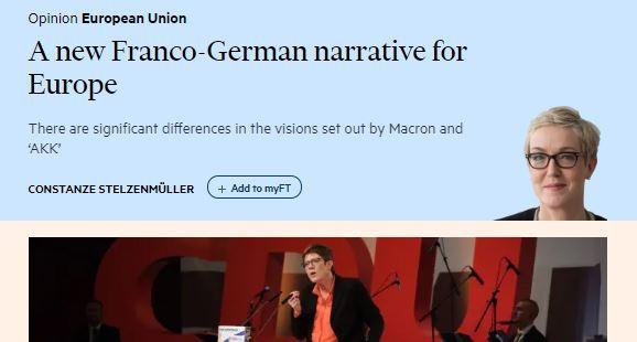 Uusi saksalais-ranskalaine tarina Euroopasta 20190312