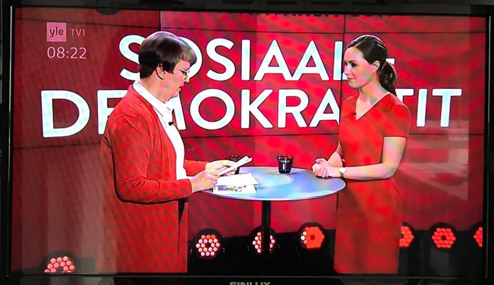 aamutelkkari Sanna marin ja Pirjo Auvinen 20190325JPG