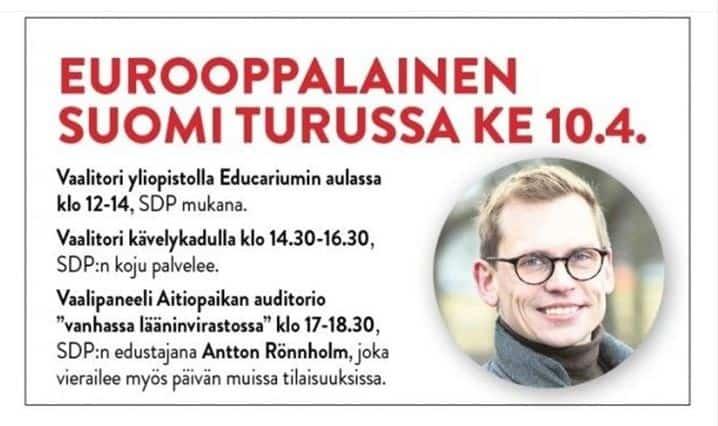 Eurrooppalainen Suomi Turussa 20190405