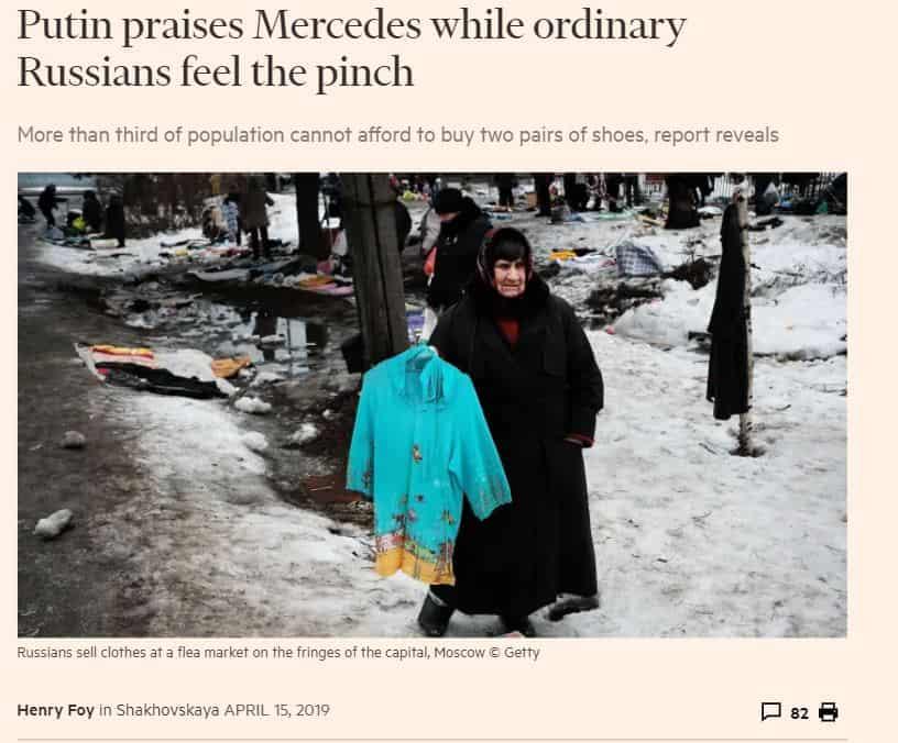 Putin kehuu mersua ja kansalta viedään 20190417