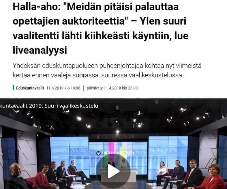 Ylen suuri vaalikeskustelu 20190411JPG