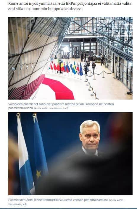 Eu huippukokous ja Rinne 20190621