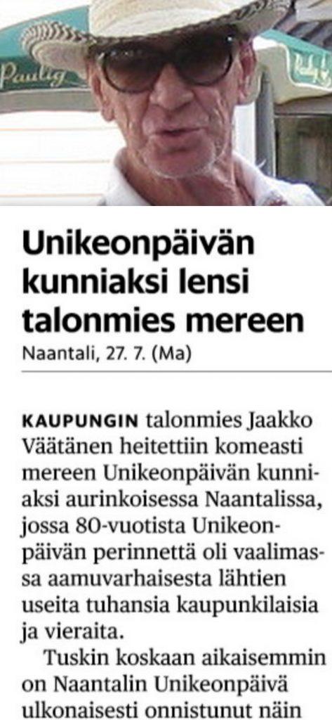 Unikeon päivä 1969 ja Jaska Väätänen 20190728jpg