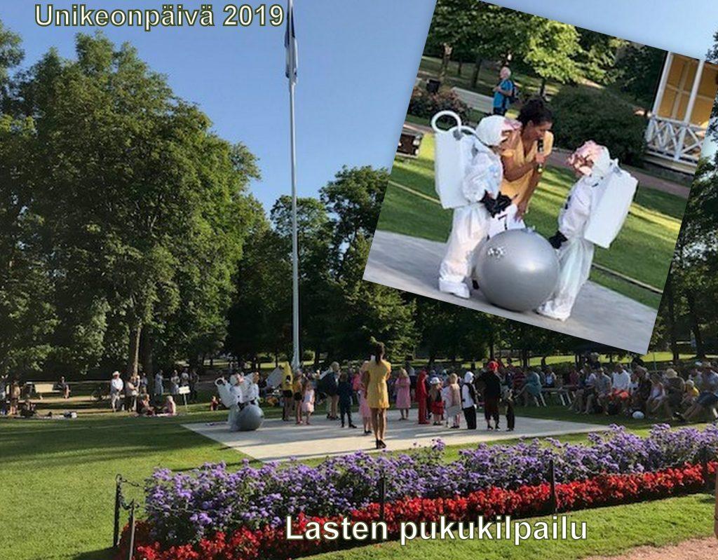 Unikeonpäivä lasten pukukilpailöi 20190727jpg