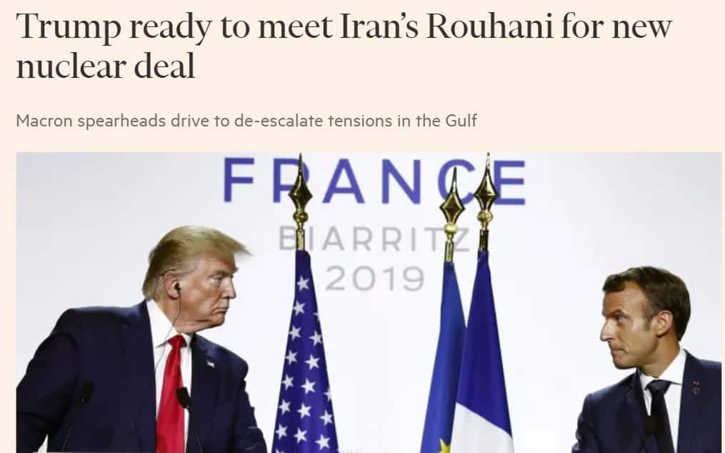 Trumph ja Macron G7 20190826