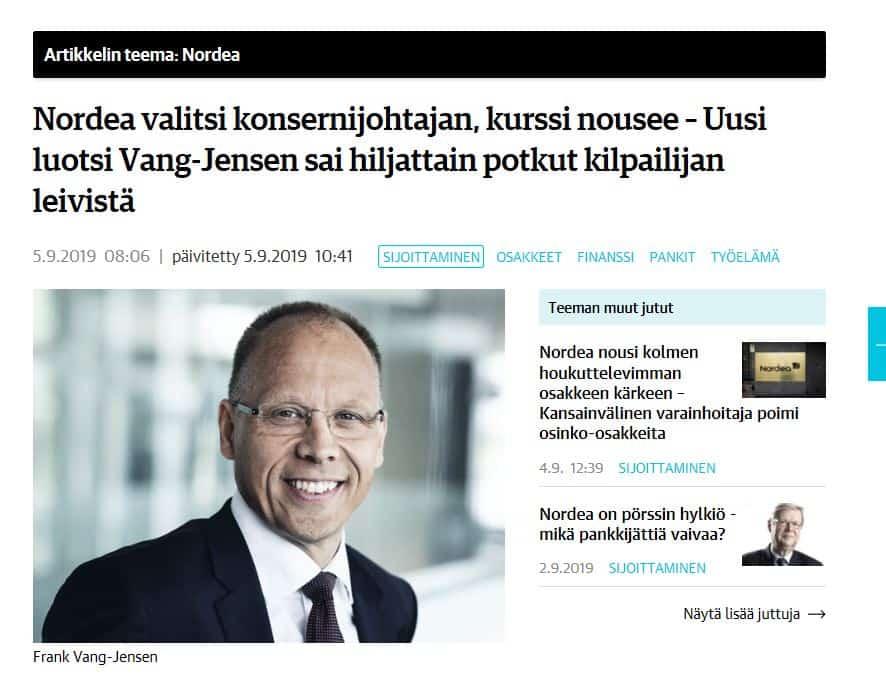 Vang Jensen ja Nordea 20190905