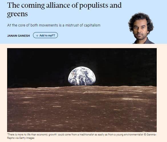 Epäusko kapitalismiin yhdistää populisti ja vihreät 20191008JPG