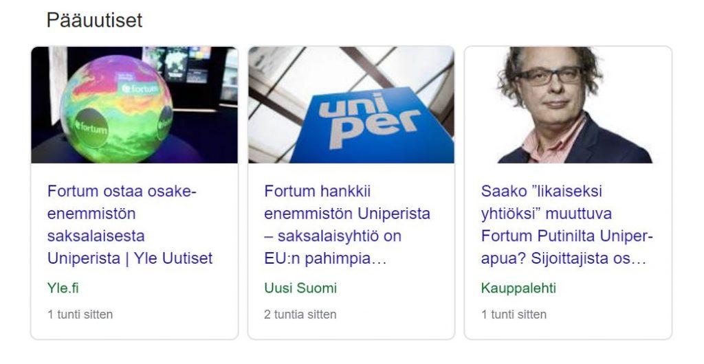 Uniper Fortum uutinen 20191008