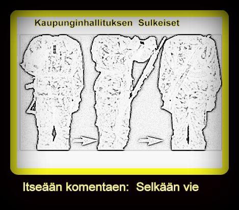 Itseään komentaen Selkään vie 20191113