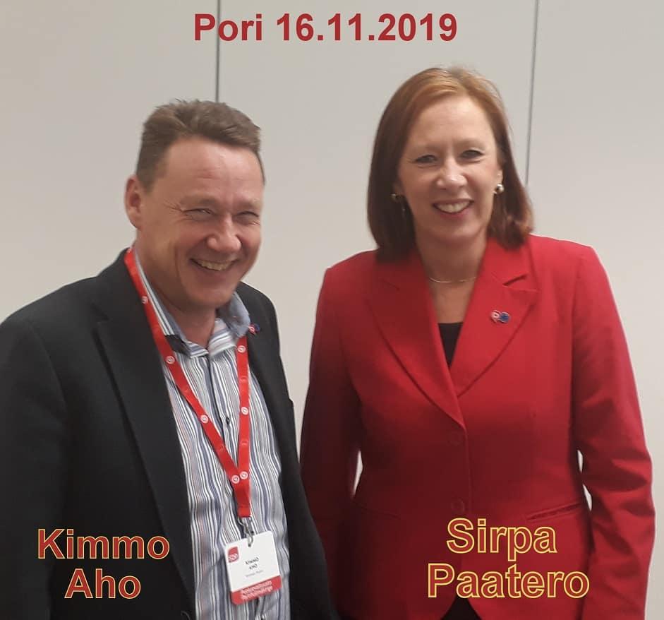 Sirpa Paatero ja Kimmo Aho 20191116_172647