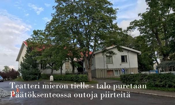 Teatteritalo vanha seurakuntatalo ja päätöksenteko 20190909