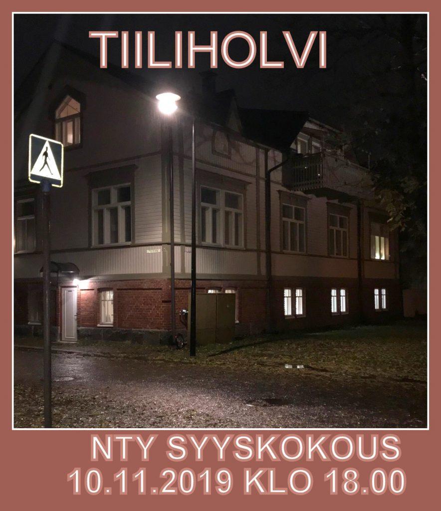 Tiiliholvi syYSKOKOUS 20191108