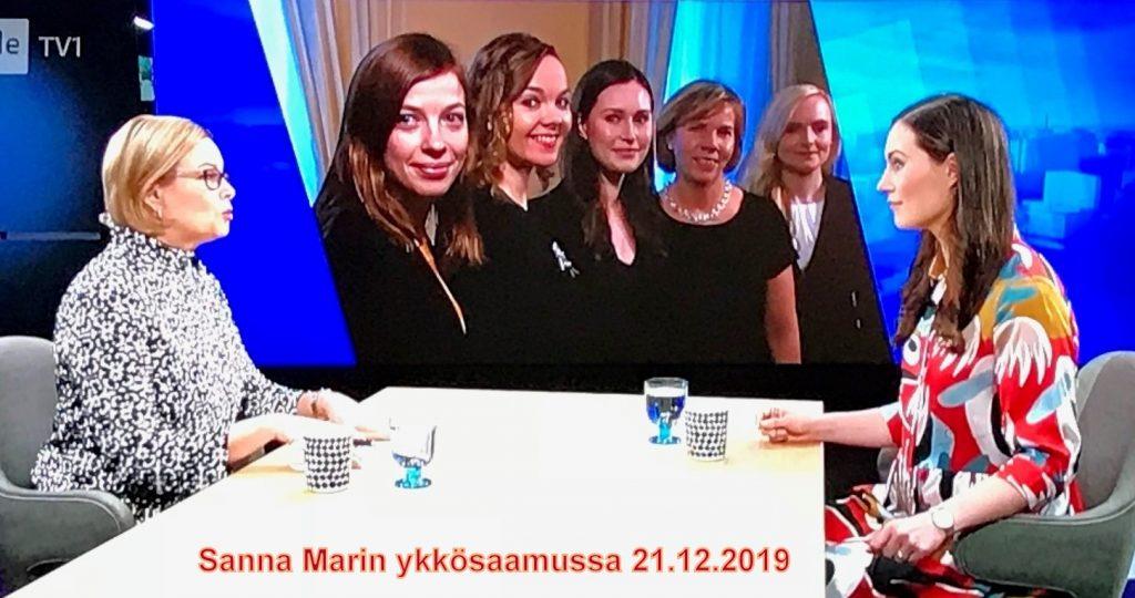 Sanna Marin aamutelkkarissa 20191221