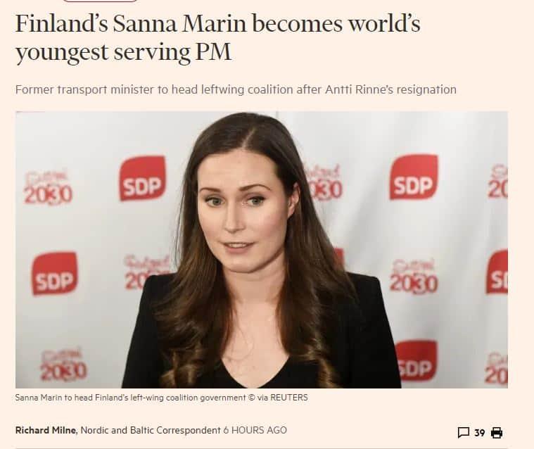 Sanna marin FT 20191209