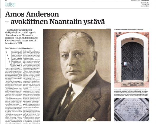 Amos Andersson Raimo Vahteran juttu 20200106