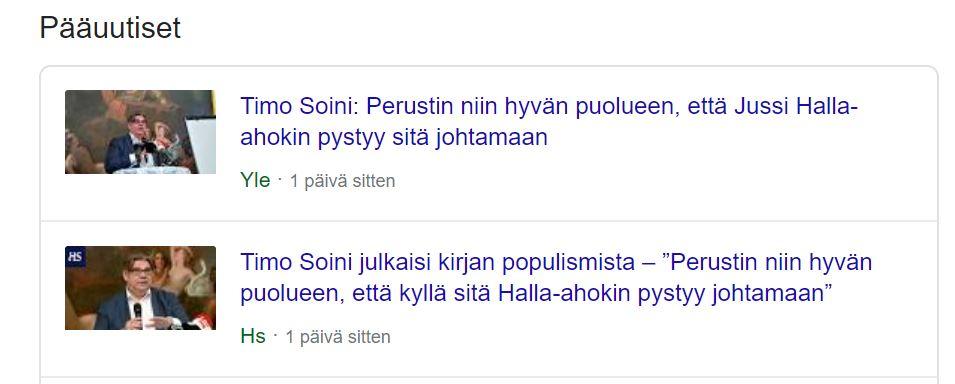 Timo Soini Populismi 20200113JPG