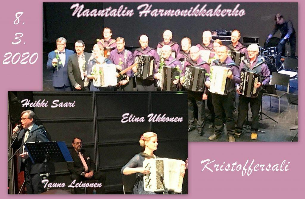 Naantali Harmonikkakerhon konsertti Kristoffersali 20200308