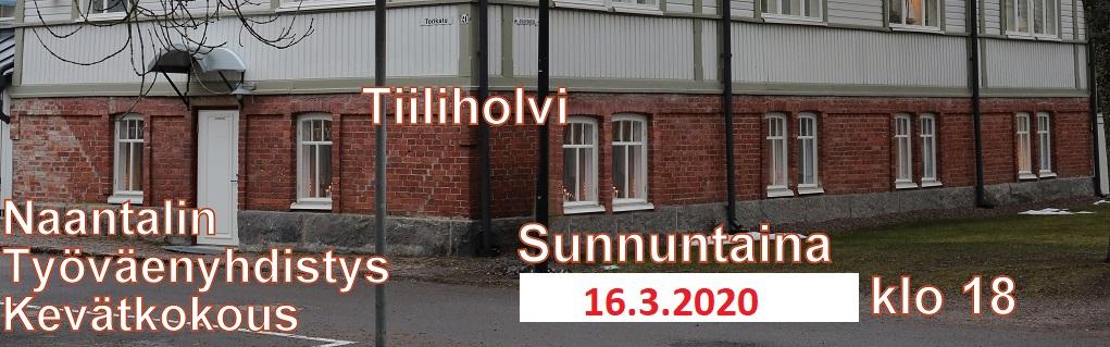 Tiiliholvi kevätkokous 20200310