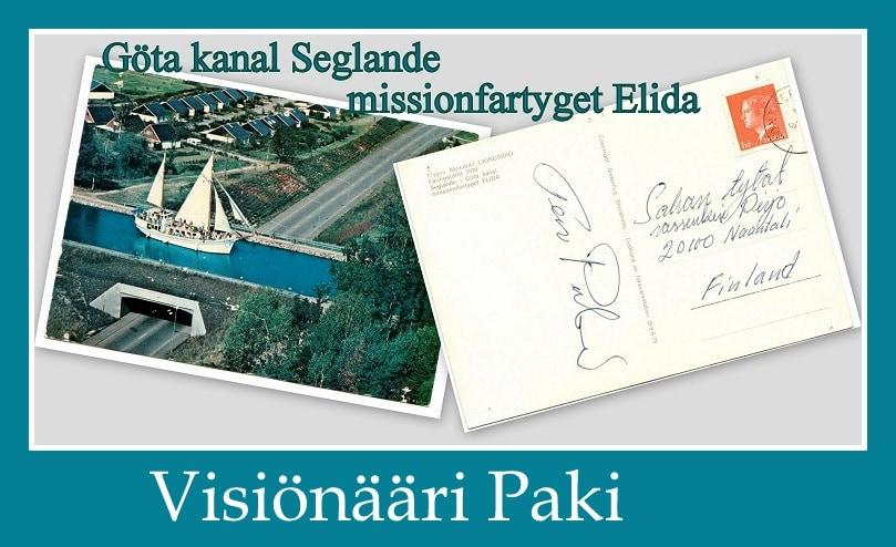 Visiönääri Paki Göta kanal Pakin kortti 20200330