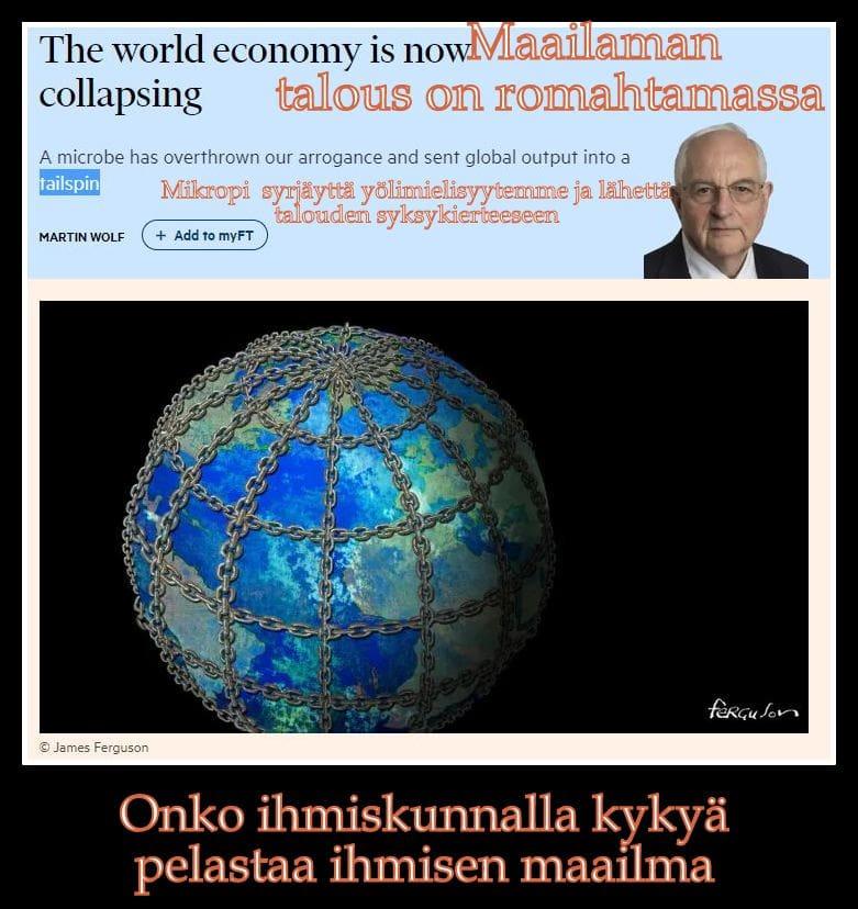 Globaalitalaous romahtaa Wolf 20200415JPG