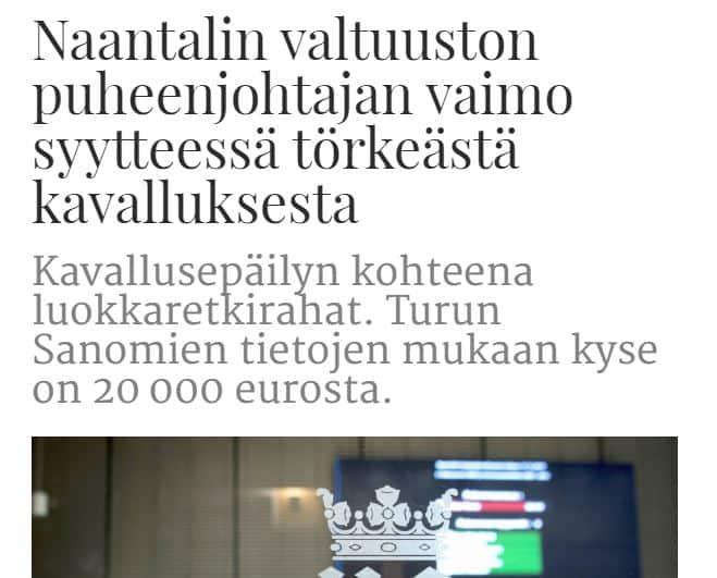 TS uutinen Johanna Aho 20200429
