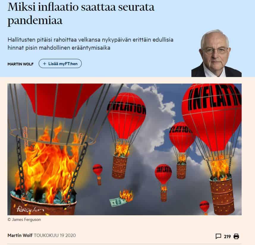 Miksi inflaatio voi seurata pandemia Wolf 2000519JPG