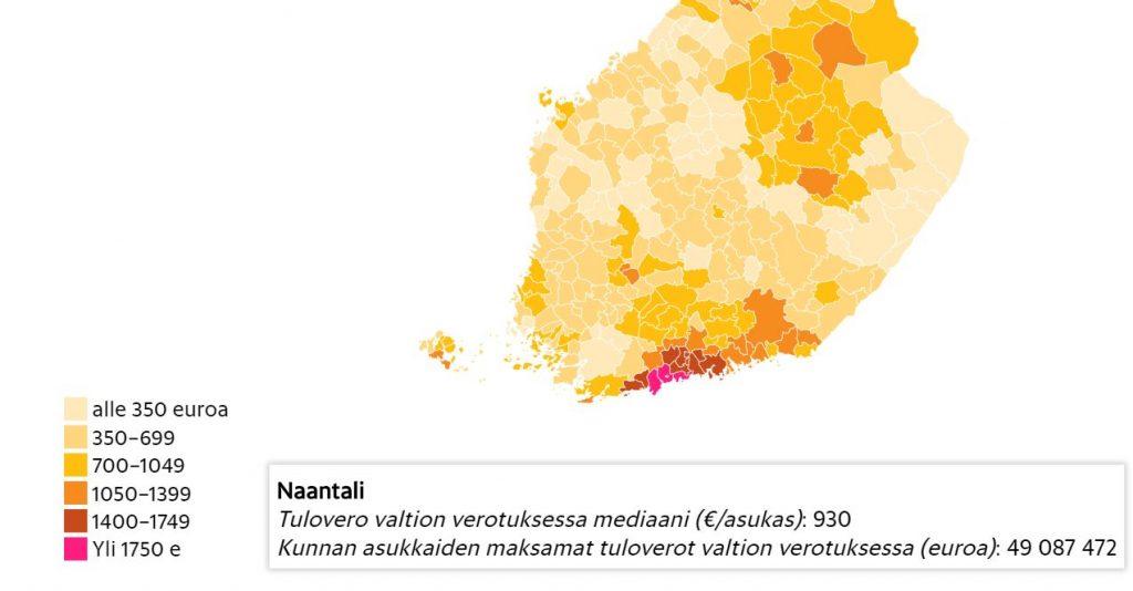 Naantalin valtionverot HS Verohallinto 20200511