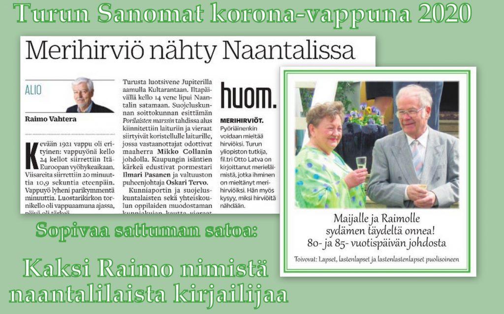 Raimo Vahtera ja Raimo Leino 20200501