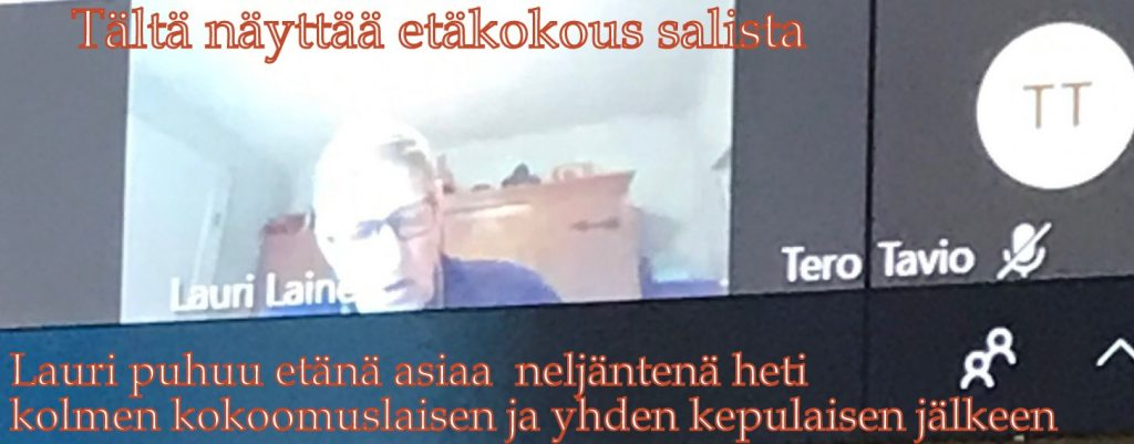 Lauri Laien valtuustossa 20200608