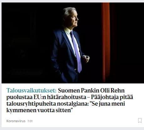 Olli Rehn HS 20200609