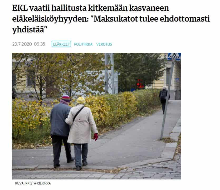 EKL eläkeläisköyhien asialla KL 20200729JPG