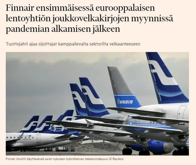 Finnair joukkovelkakirja FT 20200828JPG