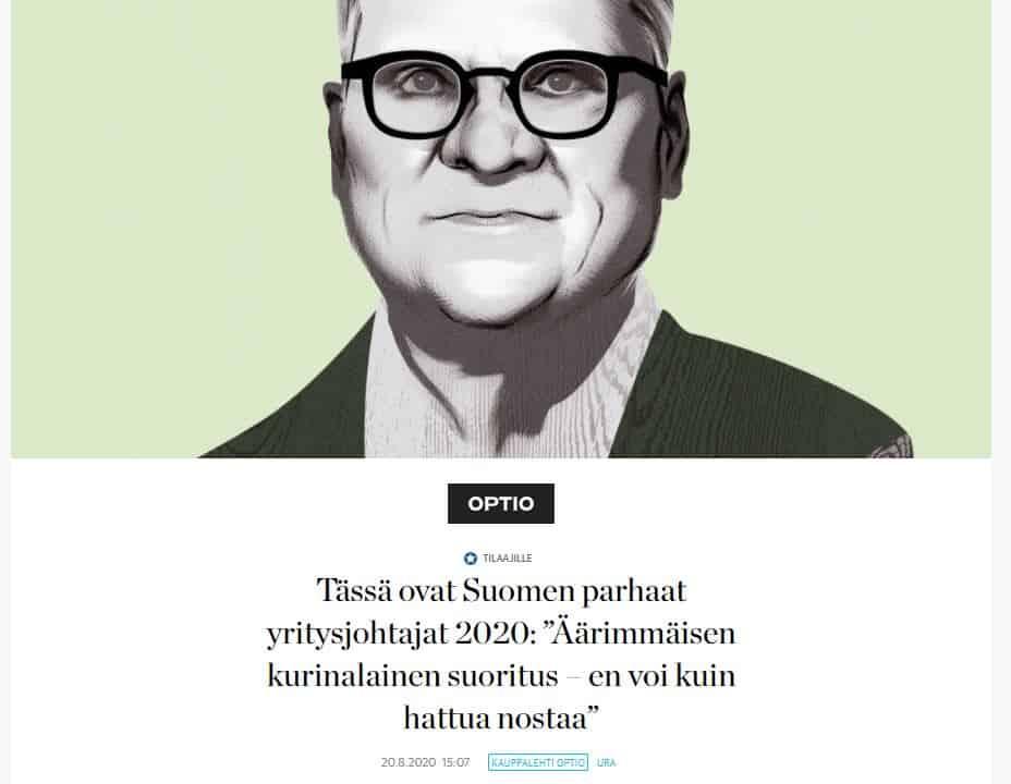 Paras yritysjohtaja Jussi Pesonen 20200820