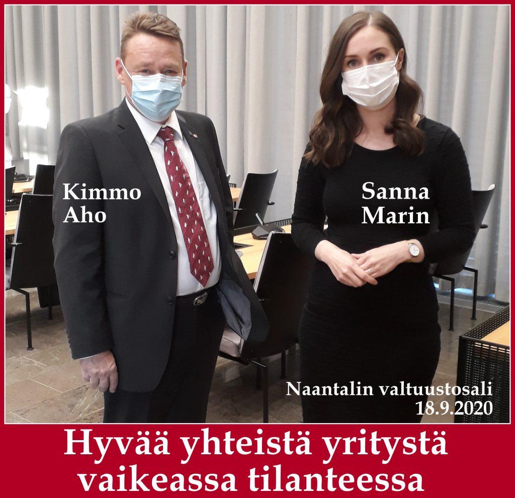 Sanna Marin ja Kimmo Aho 20200918_184557