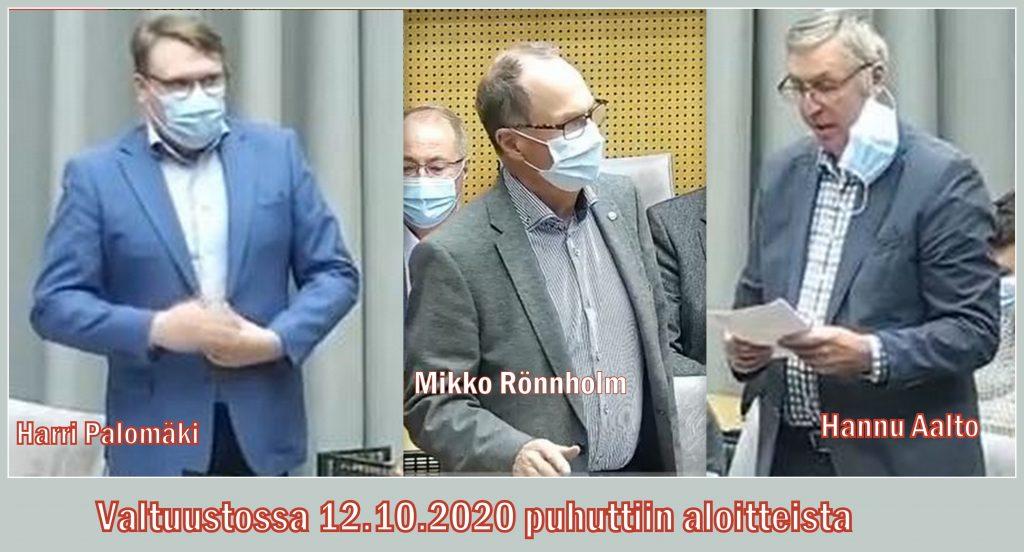 Palomäki , Rönnholm ja Aalto 20201012jpg