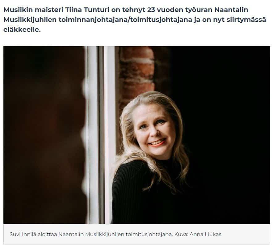 Suvi Innilän Musiikkijuhlien toimitusjohtajaksi 20201015JPG