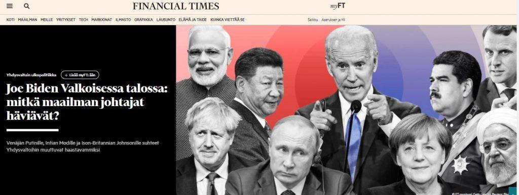 Biden ja maailman johtjat.