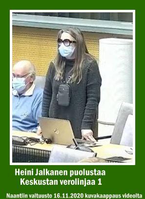 Heini Jalkanen valtuusto 20201116