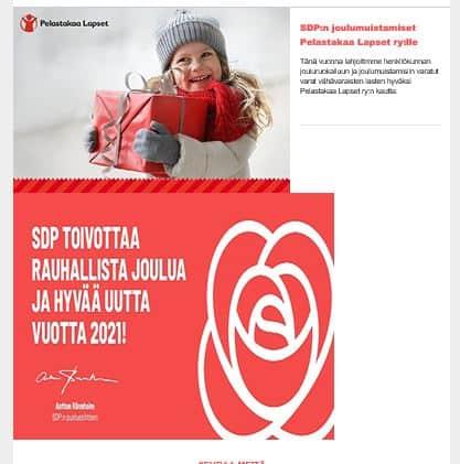 Hyvää Joulua SDP 20201222