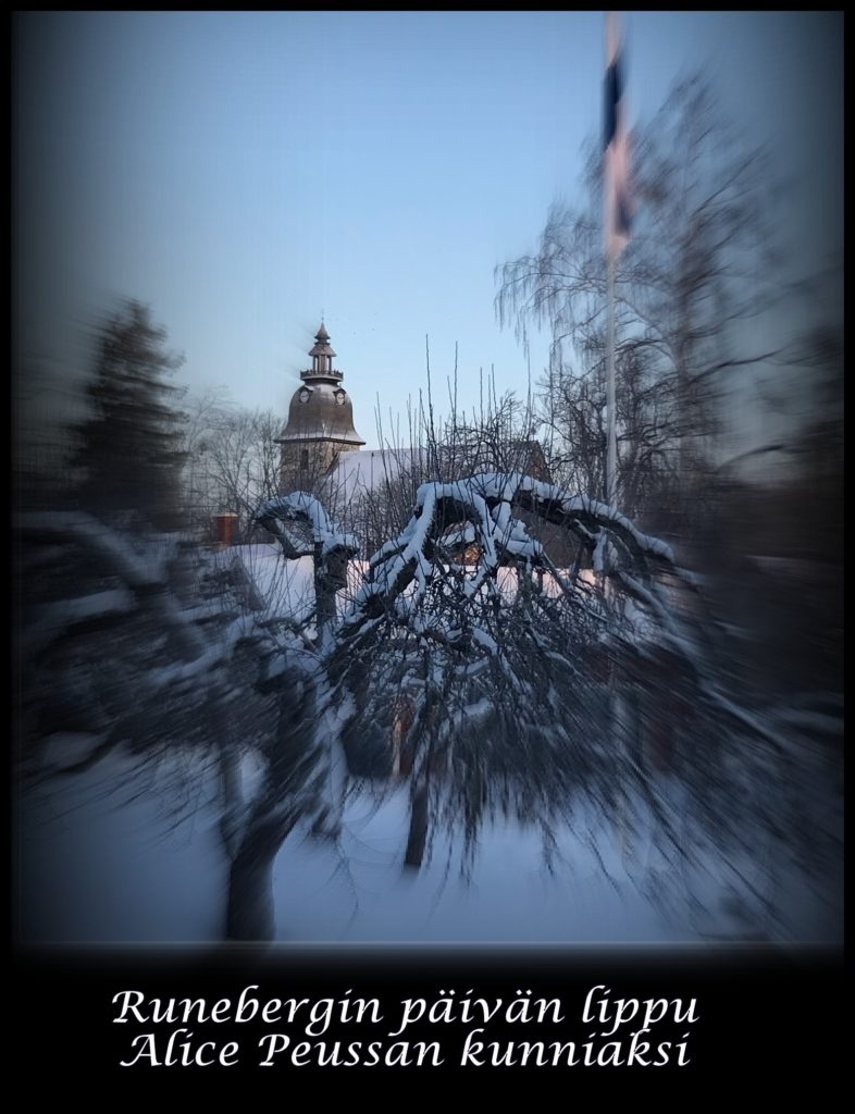 Alice Peussa Runebergin päivän kunnikasi a 20210205